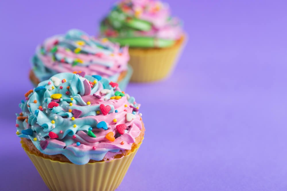 Muffins With Colorful Decoration