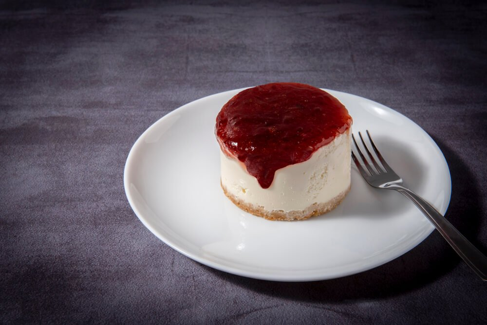 Delicious Cheesecake With Guava Jam.